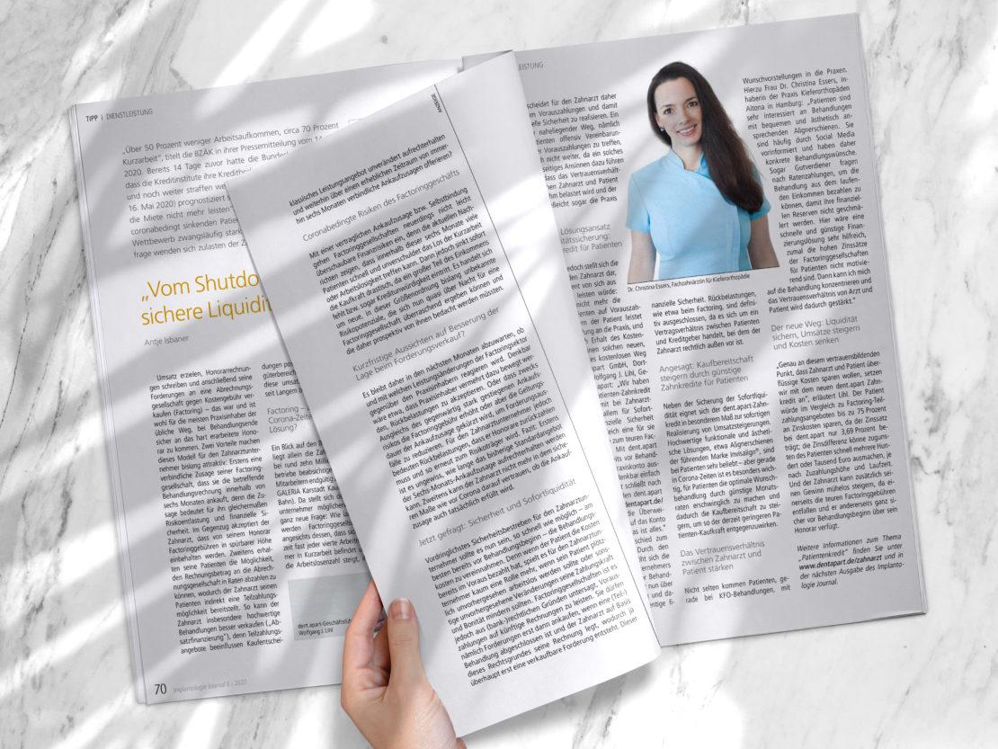 Neuer Artikel im Implantologie Journal: So einfach lässt sich Zahnersatz finanzieren