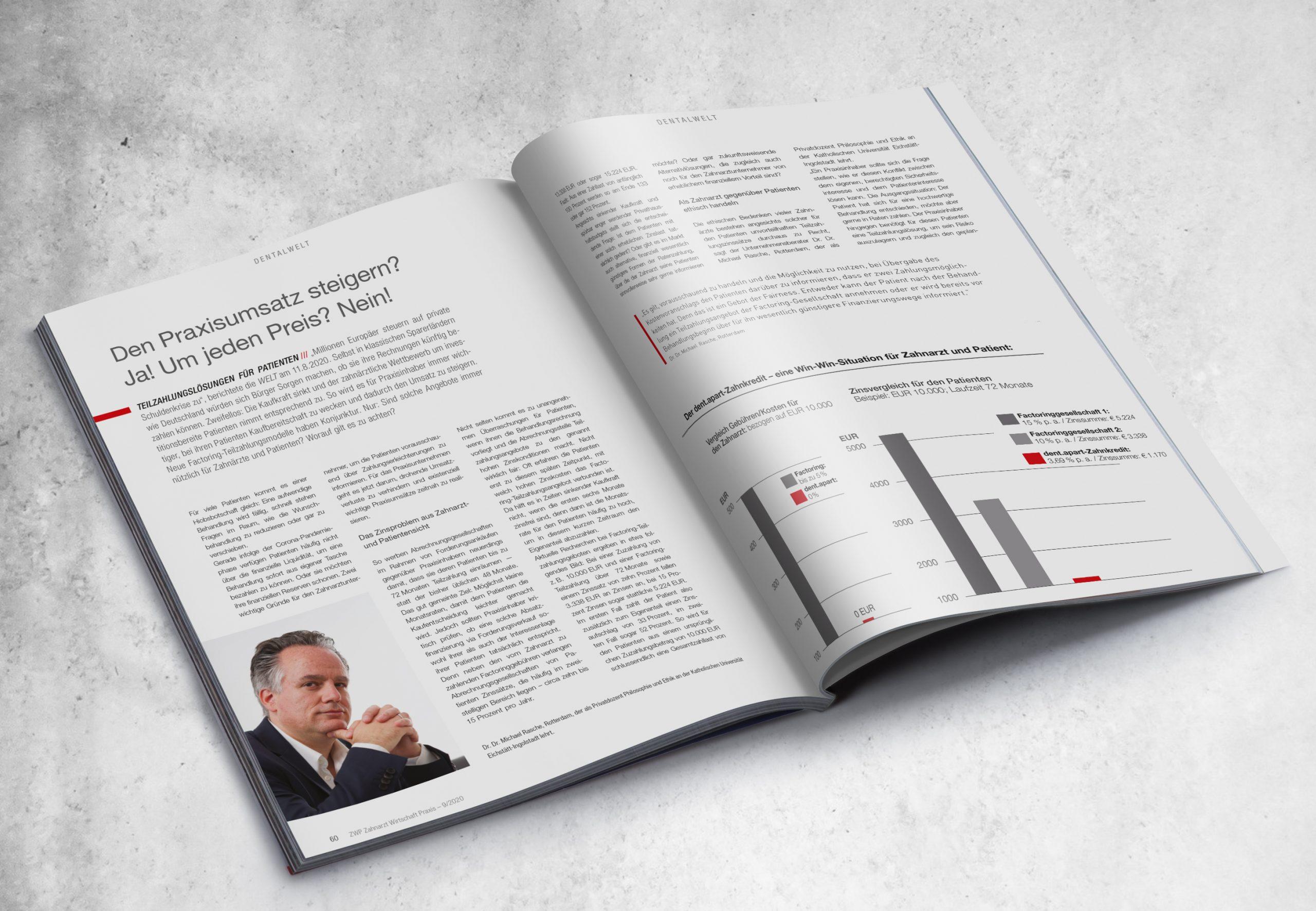 dent.apart-Zahnkredit - ZWP-Ausgabe 09/2020
